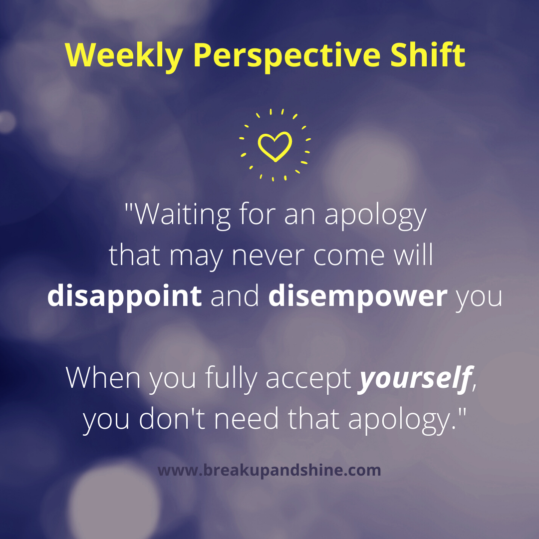 apology never comes
